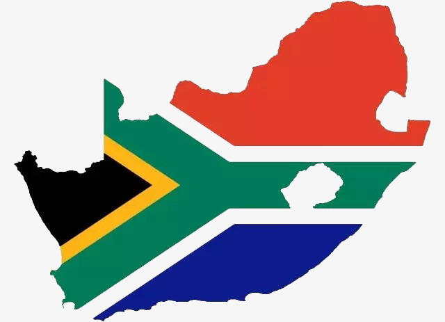 640x463 South African Flag Map, Map, Cartoon, South Africa Terrain Png