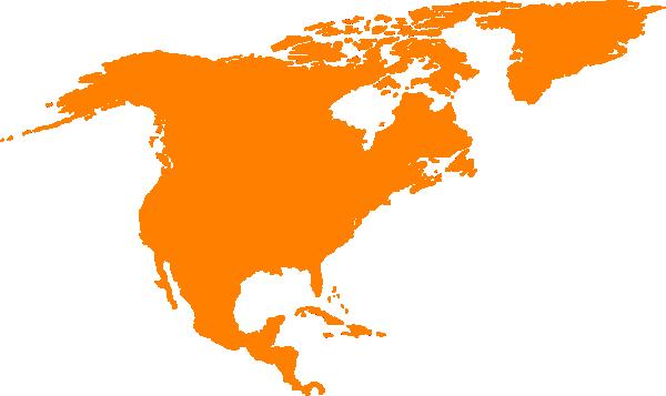 600x357 North America Map Clipart