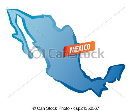 450x380 Blue Vector Mexico Map Clip Art Vector