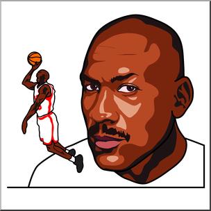304x304 Clip Art Michael Jordan Color I Abcteach