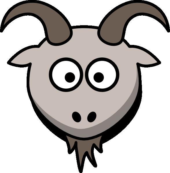 588x597 Goat Head Clip Art 7261097