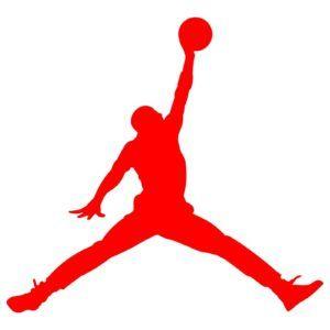 300x300 Michael Jordan Air Basketball Red Sticker Lover
