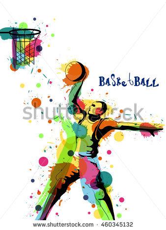 338x470 Splash Clipart Basketball