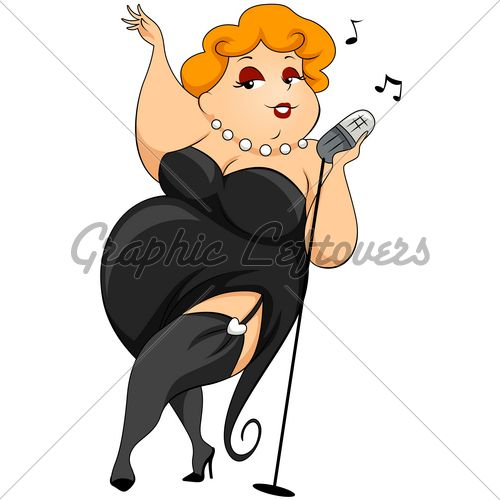500x500 Free Clip Art Fat Lady Sings Plump Woman Singing With Clipping
