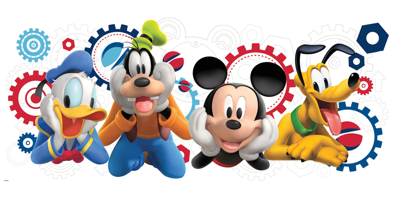 800x400 Mickey And Friends Birthday Clipart