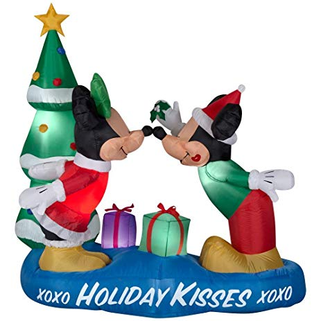 463x463 Inflatable 5.5 Ft. Mickey And Minnie With Mistletoe