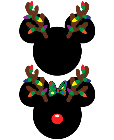 391x480 Instant Download Mickey And Minnie Mouse Christmas Antlers Svg Eps