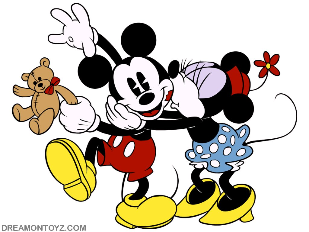 1024x768 Kisses clipart mickey mouse