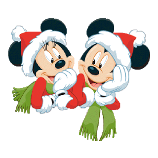 320x320 Mickey and minnie christmas clipart