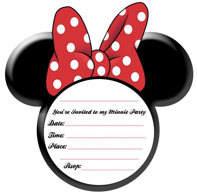 640x636 Minnie mouse head mickey mouse head template for invitations diy