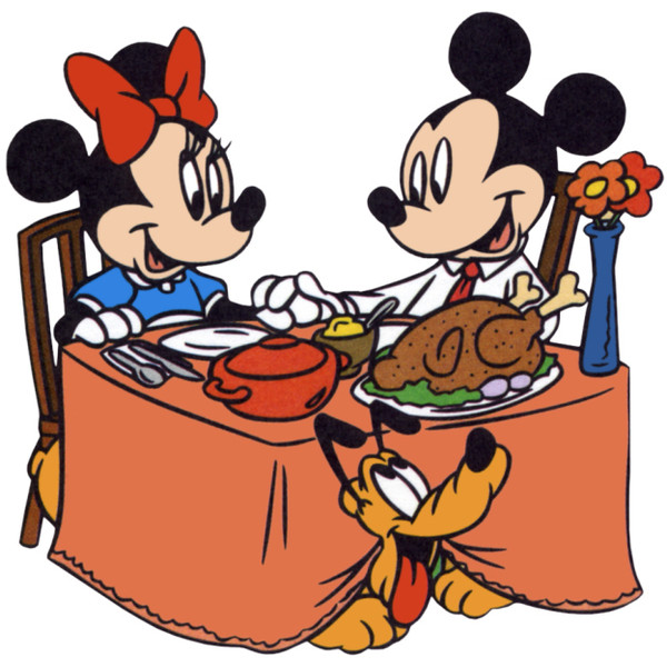 600x600 thanksgiving dinner images clip art mickey minnie mouse