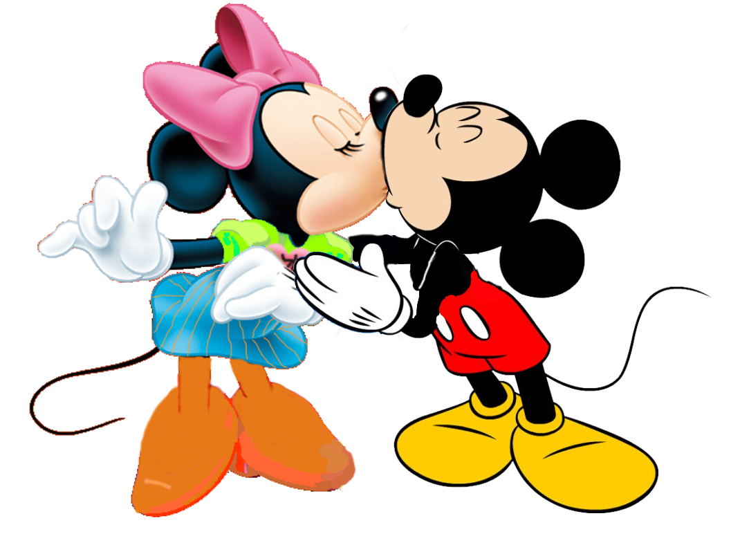 1057x801 Mickey And Minnie Mouse Kissing In Human Size Of This Preview