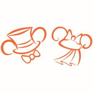 300x300 Wedding Bride And Groom Disney Mickey And Minnie Mouses Ears