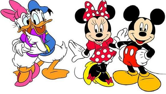 581x331 Collection Of Mickey And Minnie Clipart High Quality, Free