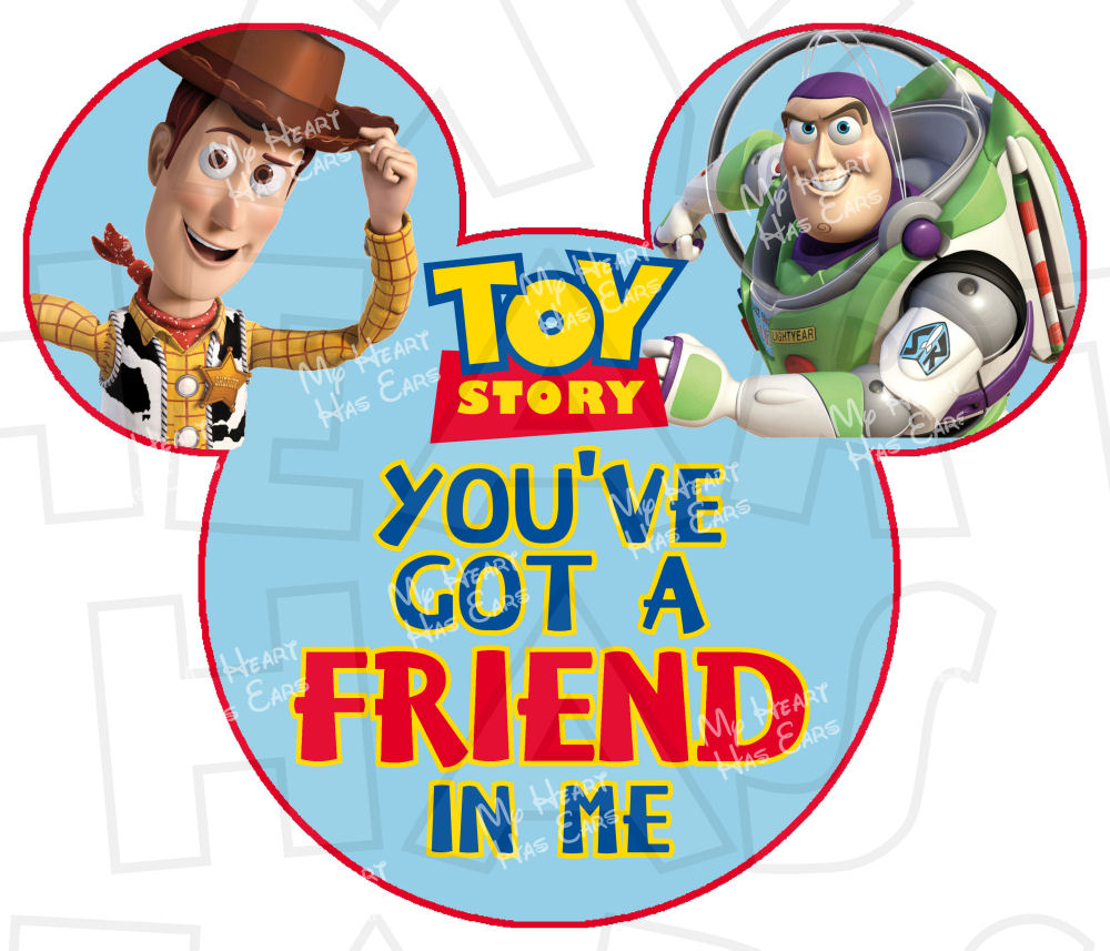 1000x857 Toy Story Buzz And Woody In Mickey Mouse Head Instant Download