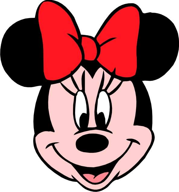 593x637 Minnie mouse head outline free download clip art –