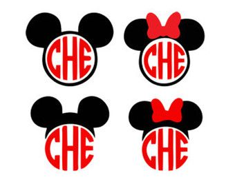 340x270 mickey mouse minnie mouse monogram frame svg dxf jpeg png file