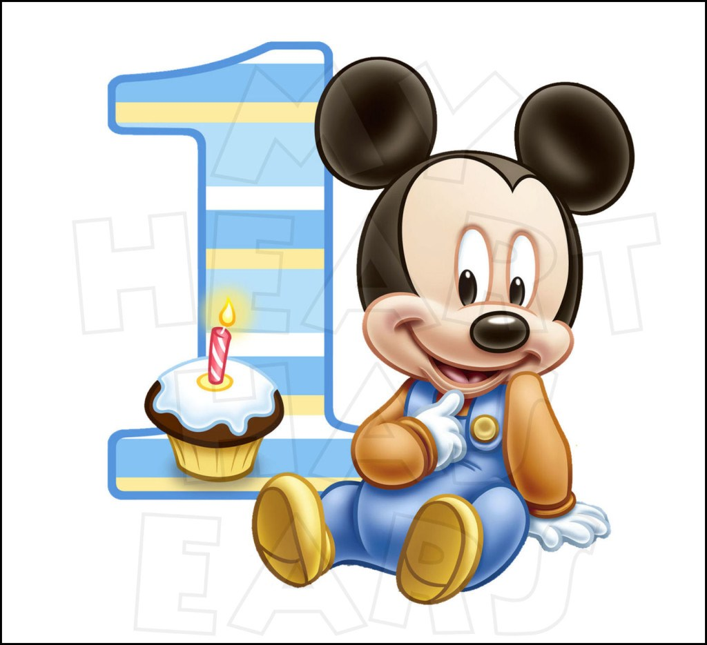 1024x935 Baby Mickey Mouse 1st Birthday Clip Art
