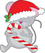 145x170 Christmas Mouse Clipart