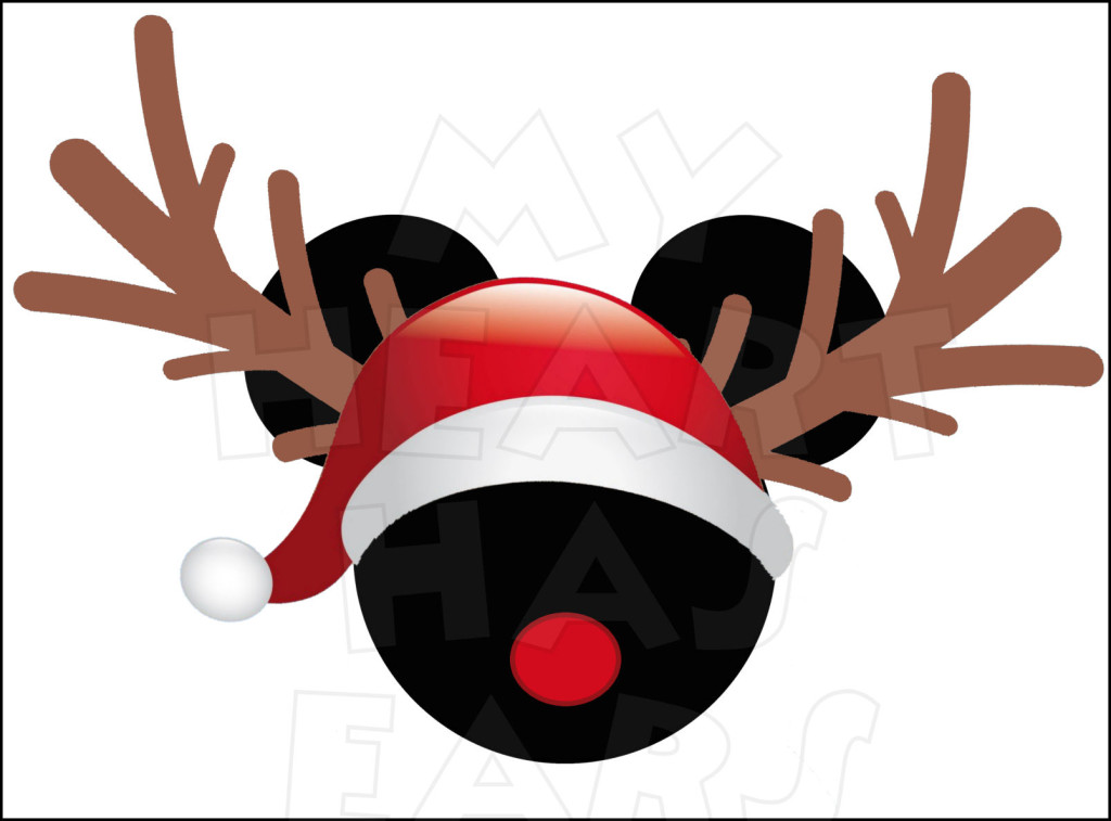 1024x757 Reindeer Mickey Mouse With Instant Download Christmas Digital Clip