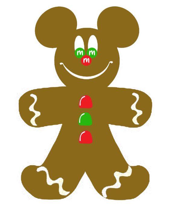 573x689 Christmas Gingerbread Mickey Mouse Clip Art Clip Art