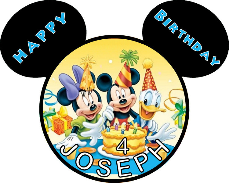 750x600 Happy Birthday Mickey Mouse Clipart