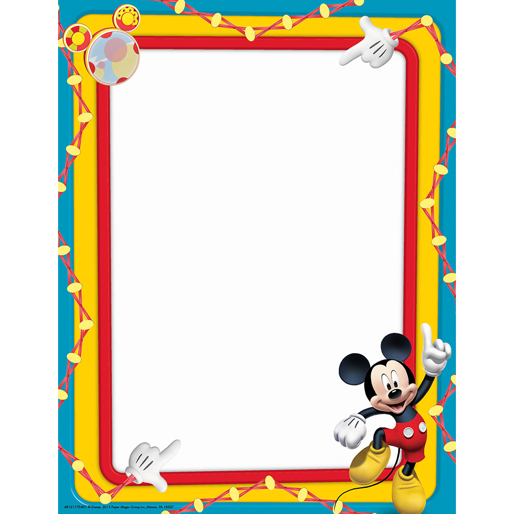 1000x1000 Mickey Mouse Clubhouse Primary Colors Computer Theme Paper