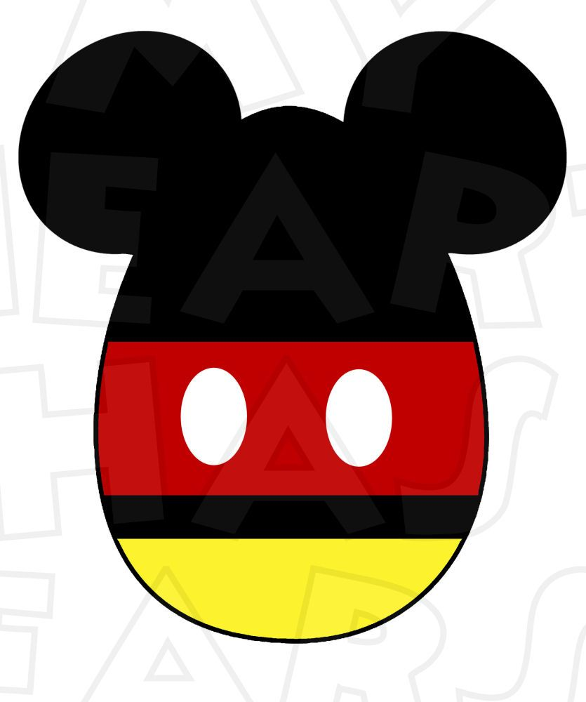 835x1000 Mickey Mouse Easter Egg Instant Download Digital Clip Art Diy Iron