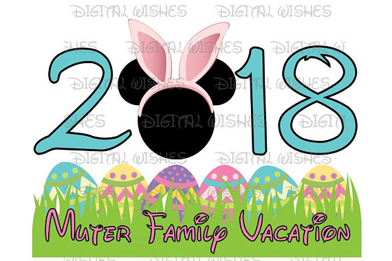 570x380 Easter 2018 With Mickey Mouse Easter Bunny Personalized Disney