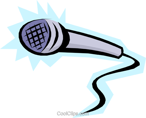 480x389 Cool Microphone Royalty Free Vector Clip Art Illustration