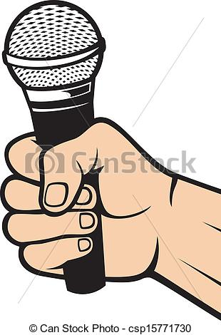 310x470 Hand Holding A Microphone (Hand With A Microphone)