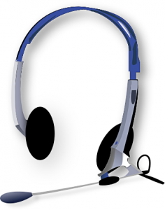 236x300 Headphones With Microphone Clip Art Download