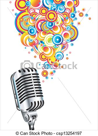 337x470 Magic Retro Microphone. A Magic Microphone Singing Colorful Eps