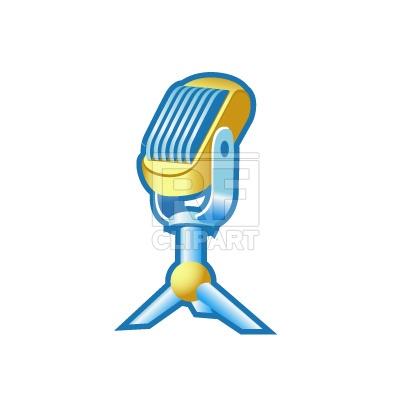 400x400 Retro Microphone Icon Royalty Free Vector Clip Art Image