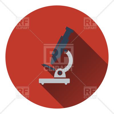 400x400 Flat Design Icon Of School Microscope Royalty Free Vector Clip Art