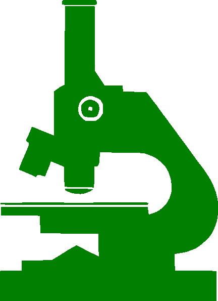 432x595 Green Microscope Clip Art