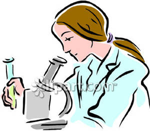 300x262 A Woman With A Test Tube Looking Under A Microscope Royalty Free
