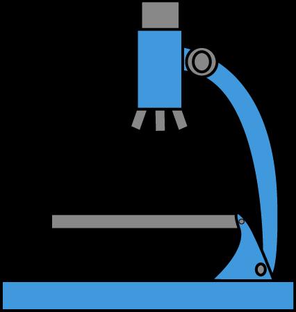 426x448 Blue Microscope Clip Art