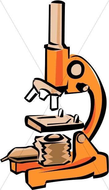 353x612 Bright Orange Microscope Christian Classroom Clipart