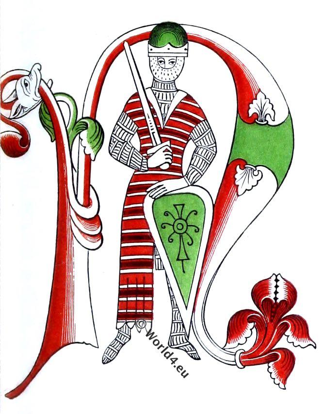 666x854 Ecclesiastics Of The 12th Century. Bishop, Monks Costumes