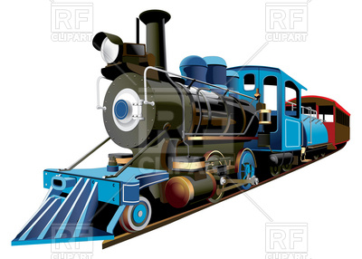 400x286 Retro Locomotive Of Middle 19 Ages With Train Coach Royalty Free