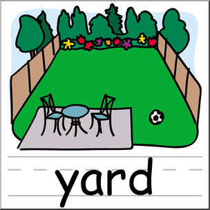 304x304 Clip Art Basic Words Yard Color Labeled I Abcteach