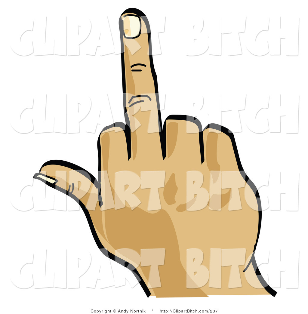 1024x1044 Clip Vector Art Of A White Hand Flipping The Bird By Andy Nortnik