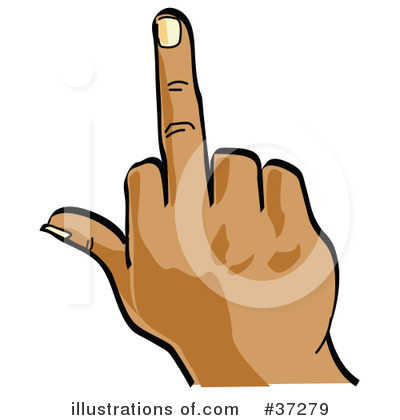 400x420 Middle Finger Clipart