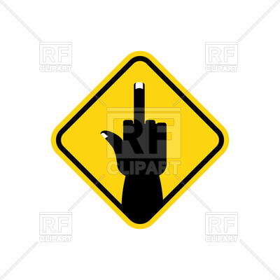 400x400 Road Sign Of Middle Finger Royalty Free Vector Clip Art Image