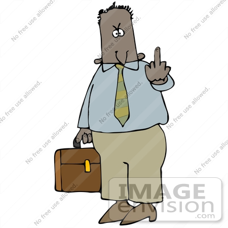 450x450 Clip Art Graphic Of A Mad Businessman Carrying His Briefcase