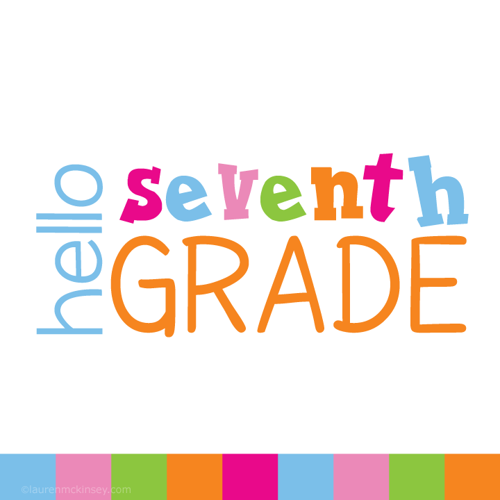 720x720 Complete Collection {Hello Seventh Grade For Girls} Clip Art