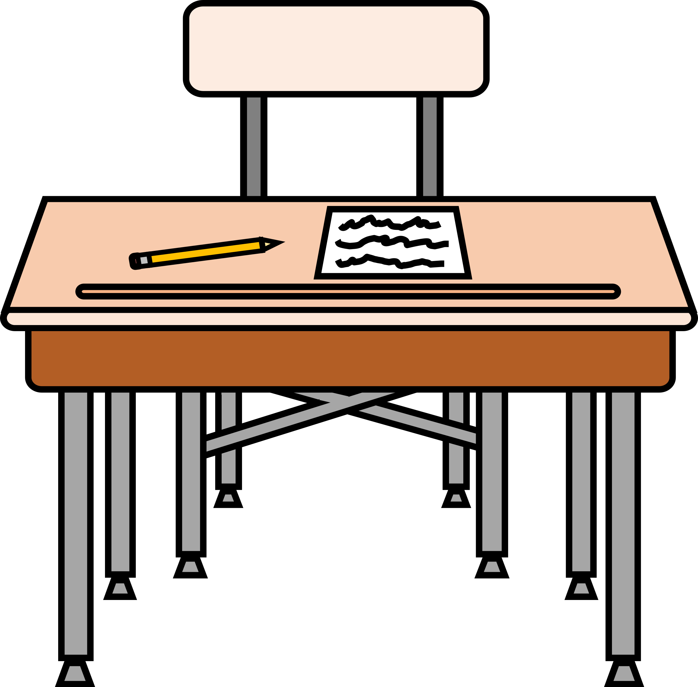 2400x2361 Desk Clipart Middle School