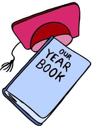 300x405 High School Yearbook Clipart