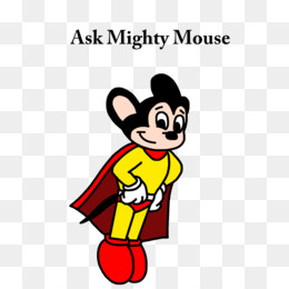260x260 Mighty Mouse Cartoon Line Art Clip Art
